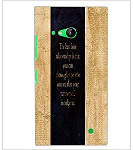 PrintDhaba Quote D-3273 Back Case Cover for NOKIA LUMIA 730 (Multi-Coloured)