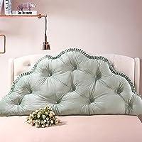 YIWANGO Bedside Cushion Velvet Sofa Cushion Garden Princess Soft Bag Double Pillow Lumbar Pillow Removable Cleaning Multi-size,Green-2M