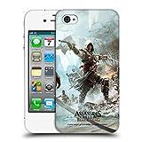 Head Case Designs Offizielle Assassin's Creed Edward Shore 2 Schwarze Fahne Schluessel Kunst Ruckseite Hülle für iPhone 4 / iPhone 4S