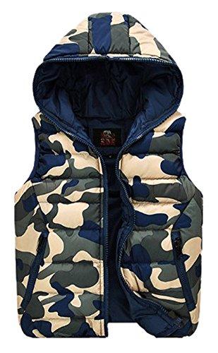 Demarkt Fashion Herren Winter Mit Kapuze Weste Bodywarmer Winterwesete Blau