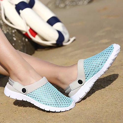 Eagsouni Unisex Sandali Zoccoli Spiaggia Pantofole Scarpe da Mare Beach Ciabatte Traspirante Uomo Donna Cielo blu