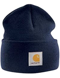 79890f1cd08 Carhartt Acrylic Watch Cap - Navy Mens Winter Work Beanie Ski Hat CHA18NVY