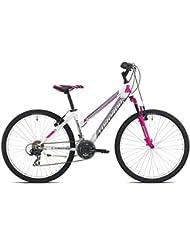 "earth MTB Torpado bicicleta 26"" mujer 3 x 7 V, talla 44, blanco, fucsia (de ciclismo para mujer)/bicycle MTB earth 26"" lady 3 x 7 S size 44 white (MTB Woman) rosa"