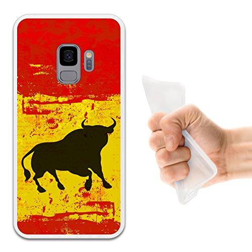 Foto de WoowCase Funda Samsung Galaxy S9, [Samsung Galaxy S9 ] Funda Silicona Gel Flexible Bandera España y Toro, Carcasa Case TPU Silicona - Transparente