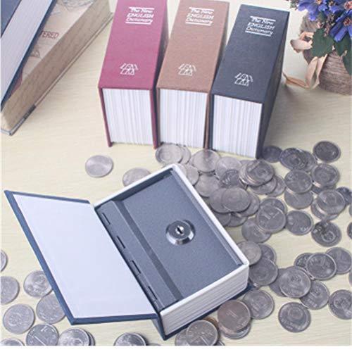 TOSSPER Wörterbuch Form Neigung Mit Sperren versteckte geheime Sicherheit Safe Lock Cash Money Münze Aufbewahrungsbehälter-Safe Großen Geschenk zufälliger Farbe -