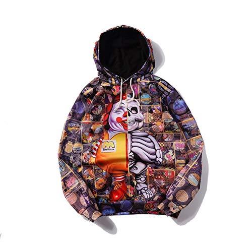 ten 3D-Pullover Sweatshirt Hoodies 2018 Frühling Böse Clown 3D-Druck Männer Und Frauen Paar Langärmeligen Pullover, Stretch-Training Kleidung, XXXL ()