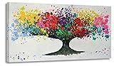 Kunstdruck auf Leinwand - Der Baum by BW (div. Größen) Bild fertig auf Keilrahmen ! Graffiti like Banksy Street Art Gemälde Wandbild (80x160cm)