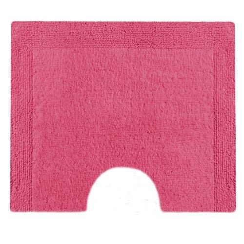 Vossen 1153510377 Charming - Toilettenvorleger mit Ausschnitt, 55 x 50 cm, cranberry - Cranberry Farbe Teppich