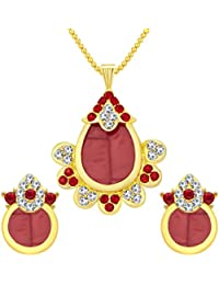 Sukkhi Fine Gold Plated AD Pendant Set For Women
