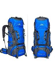 Nuevos profesionales al aire libre montañismo bolso de viaje mochila impermeable exterior del marco de la mochila de gran capacidad , blue