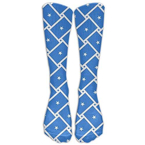 ouyjian Somalia Flag Weave Compression Socks Fußballsocken Hohe Socken Lange Socken zum Laufen, Medizin - Spitzen Bis Knöchel Stiefel