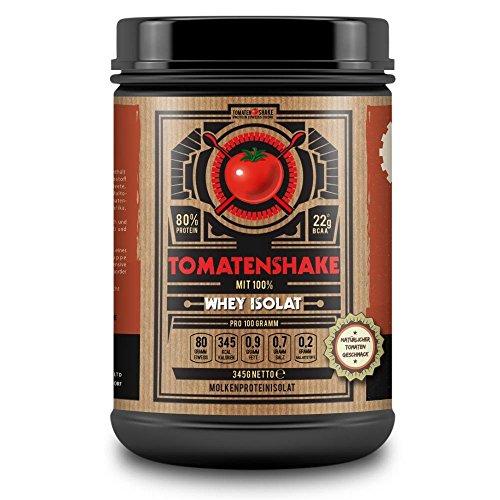 TOMATENSHAKE, boisson tomate, isolat de protéines de lactosérum en poudre avec saveur de tomate copieuse, chaud ou froid