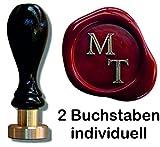 Siegel Stempel Petschaft Times 24 mm 2 Initialen 8,2 cm