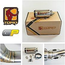 Toro T1 GP Brushed Kit de escape de motocicleta de acero inoxidable / carbono - KTM Duke 125/200/390 2011-2016