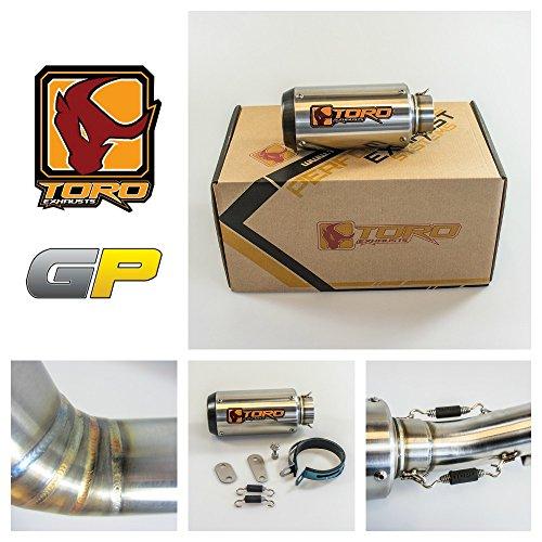 Toro T1 GP Brushed Kit di scarico in acciaio / carbonio per moto - Honda CBR 600 F4I 2001-2006