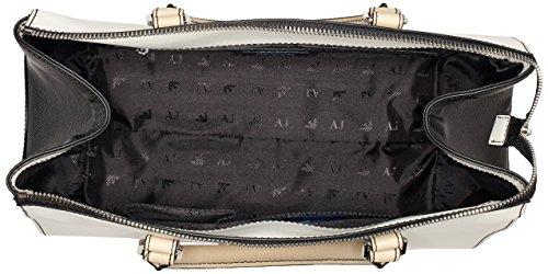 Armani - 9221777p758, Borsa con Maniglia Donna Mehrfarbig (BIANCO/BEIGE/NERO 43310)