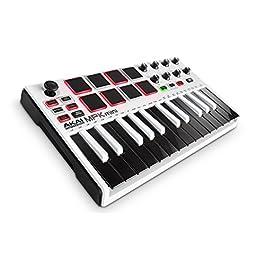 AKAI Professional MPK Mini MKII – Tastiera Controller Midi USB con 25 Tasti, 8 PAD, Potenziometri e Joystick