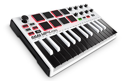 AKAI-Professional-MPK-Mini-MKII-25-Key-Portable-USB-MIDI-Keyboard-with-16-Backlit-Performance-ready-Pads-8-Assignable-Q-Link-Knobs-and-a-4-Way-Thumbstick