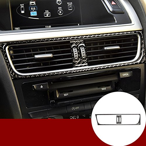 Carbon Fiber Center console Air Vent Outlet Trim copertura 2PCS