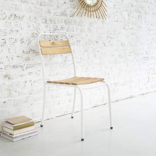 Chaise en Bois Acacia FSC et métal