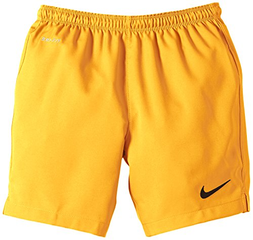 Nike, Pantaloni cortiBambino Laser II, senza slip interni, Giallo (University Gold/Black), (Nike Slip)