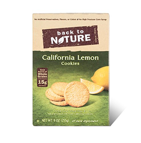 Back To Nature Cookies, California Lemon, 9 Ounce