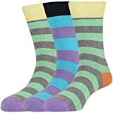 Mojeme Men's Casual Calf Cotton Socks Pa...