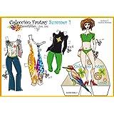 Colección Fantasy Summer. Recortables. Recortar y vestir personajes: para payasos, deportistas, vestidos de noche, de fiesta, skate, love, etc.