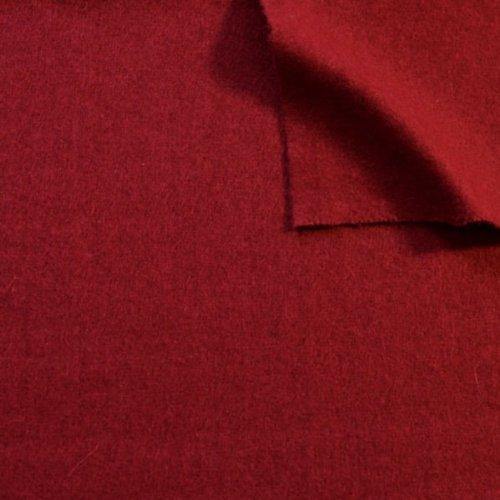 Wollfilz Stoff Meterware Dunkel Rot
