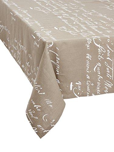 Tischdecke Words. Elegante Tischdecke Tischläufer mit Manuskript poetisch als Dekoration. Ein Hauch...