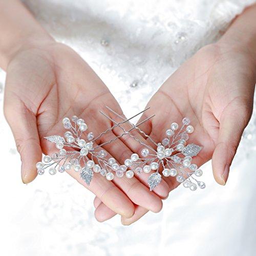Aukmla Haarnadeln für Frauen auf Hochzeit Party oder im Alltag (2 Stück) - 2