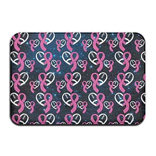 Breast Cancer Fleece (Soft Non-Slip Awareness, Breast Cancer, Hope for A Cure1 Bath Mat Coral Fleece Area Rug Door Mat Entrance Rug Floor Mats)