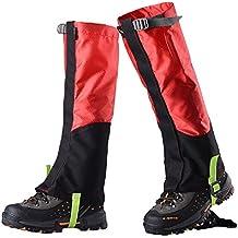 1 Par De Botas Polainas Nieve Impermeable Legging Pierna Cubre Robusta Escalada Senderismo Caminar Al Aire Libre - Rojo Gris 6e8I0