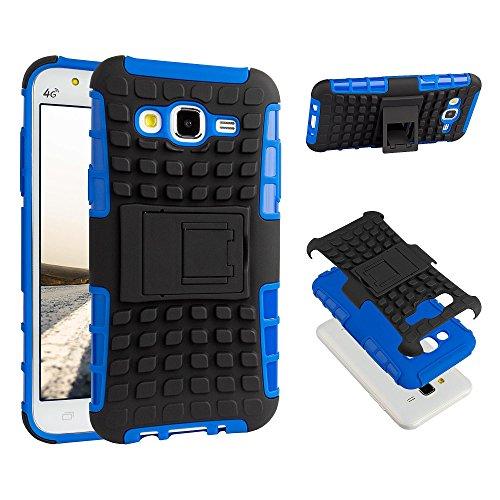 ECENCE Handyhülle Schutzhülle Outdoor Case Cover kompatibel für Samsung Galaxy J5 (2015) Handytasche Blau 13030407