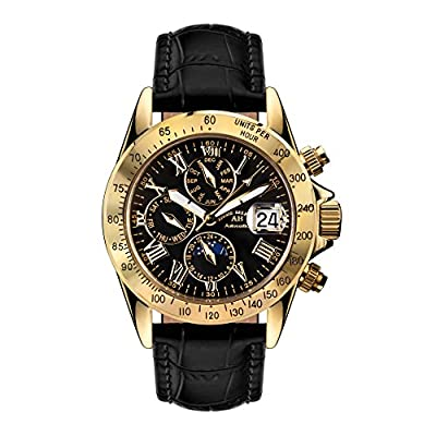André Belfort Le Capitaine Gold Black Leather