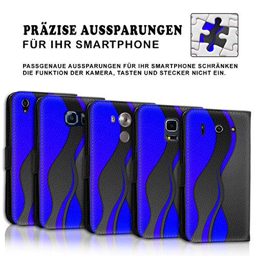 Wallet Book Style Flip Handy Tasche Case Schutz Hülle Schale Motiv Etui für Apple iPhone 5 / 5S - Variante UMV6 Design12 Design 3