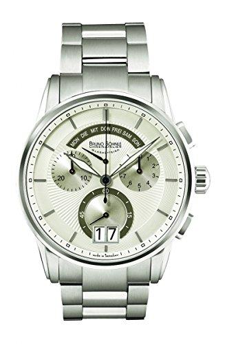 Bruno Söhnle Herren Chronograph Quarz Uhr mit Edelstahl Armband 17-13117-242