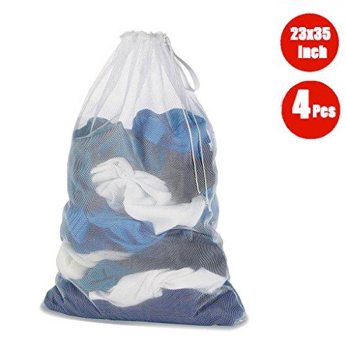 dogeek - bolso de ropa - redes de lavado - para protèger los ropa lavadora en máquina - blanco (4 pcs), blanco