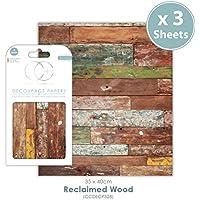 Craft Consortium Premium - Papel de decoupage (madera reciclada)