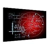 Mathematik Physik Formel Rechnung Wurzel Rot Leinwand Poster Druck Bild rv0374 80x60