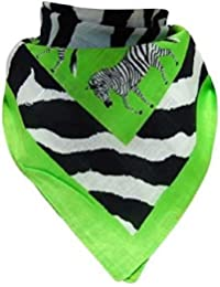 Doktor Hardstuff Women's Neckerchief Multicoloured Grün, Schwarz, Weiß One size