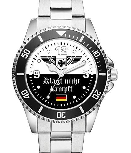 Soldat Geschenk Artikel Bundeswehr Klagt nicht kämpft Uhr 2504