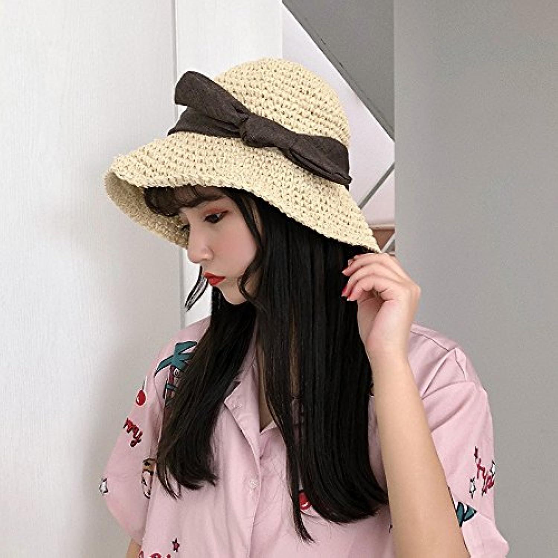 Mznwpm Cappello Di Prossoezione Solare Con Cappello Può Di Paglia Può  Cappello Piegare Il Cappello Da e33caceb9d2a