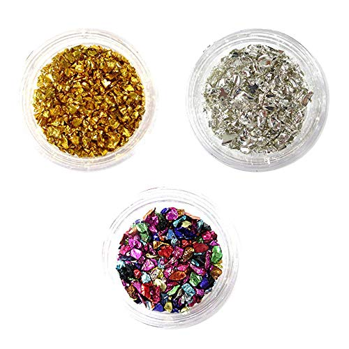 Foonee gemme per unghie 3d 3 scatole gemme di gemme di cristallo con gemme di smalto per unghie manicure gemme per unghie, pietre di brillanti per unghie con diamanti strass per nail art decorazione