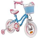 RoyalBaby Star Girl, vélo enfants pour filles de 3 à 6 ans, 12-14-16 pouces, avec roues d'entraînement et support de stationnement