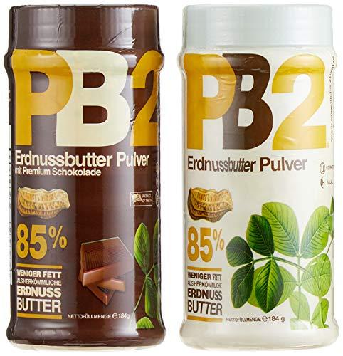 Bell Plantation PB2 Peanut Butter (Powdered) Mix Pack (Original & Chocolate), 1er Pack (1 x 368 g) -