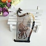 NING234 Segnalibri / vento cinese / Dunhuang murale / metallo / metallo / Cavi / Arte / Artigianato / Souvenir / regalo di compleanno / arpa,argento liuto bounce