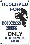 Reserviert für Motocross Riders 8x 12Aluminium Schild Blechschilder Vintage Road