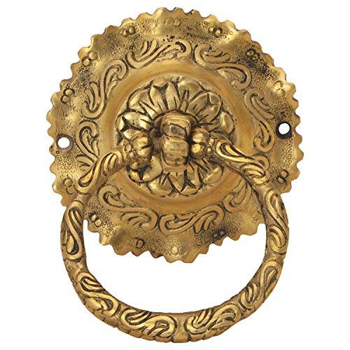 Decorative porta in ottone artigianato battente prodotto da Bharat Haat TM BH05998