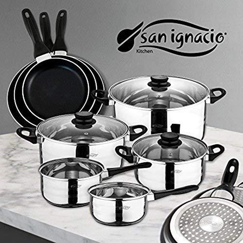 San Ignacio Juego de Sartenes y Batería de Cocina